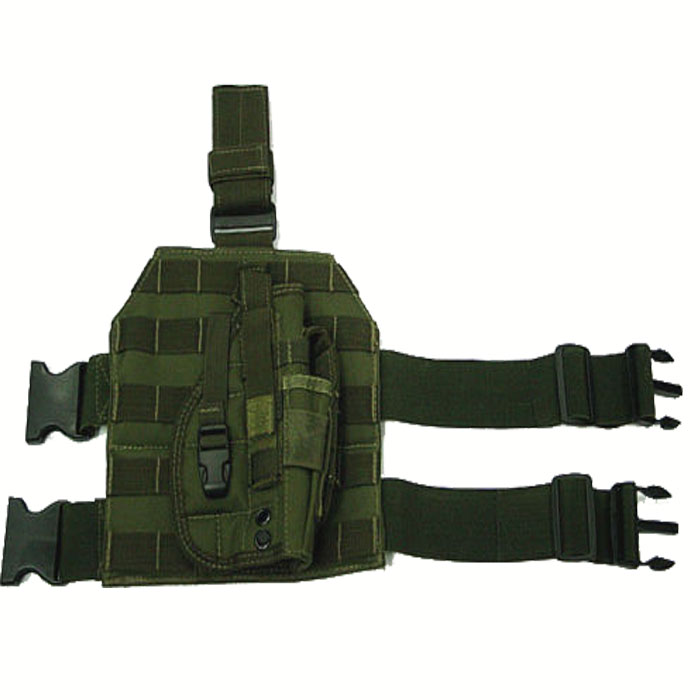MOLLE Modular Tactical Drop Leg Gun Holster with Platform OD