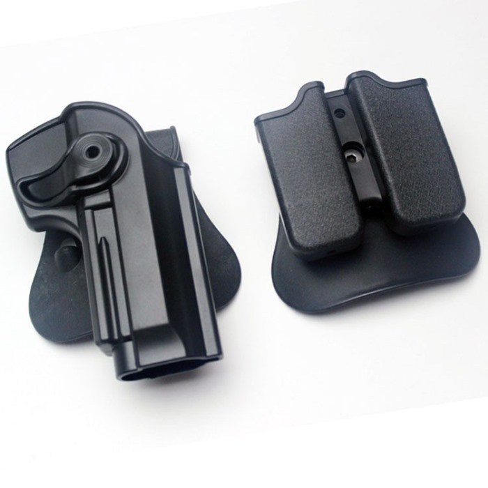 IMI Polymer Roto Beretta M92 96 Holster & Double Magazine Pouch BK