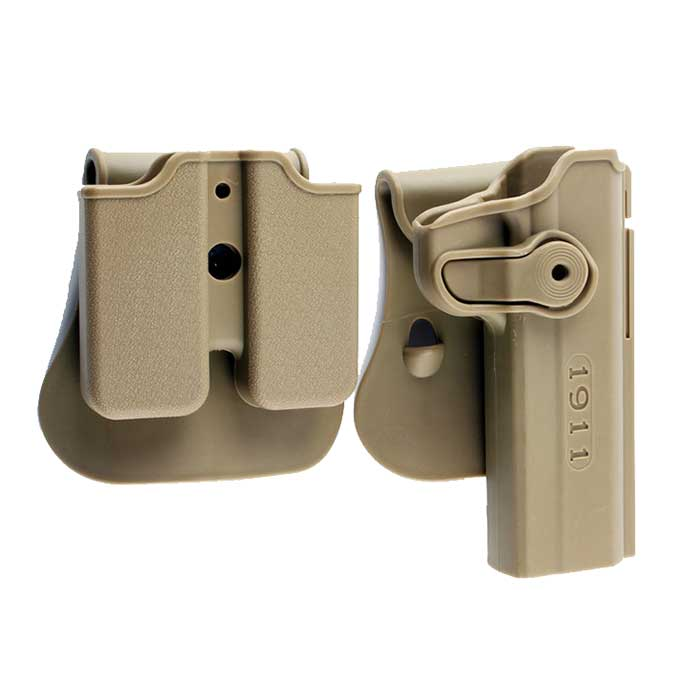 IMI Defense Pistol Colt 1911 Holster & Double Magazine Pouch DE