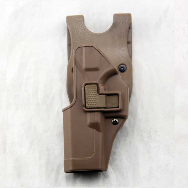 Left Hand Glock 17 19 CQC Tactical Paddle & Belt Gun Holster TAN