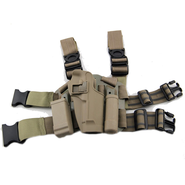 Airsoft M9 CQC 4in1 CQC Holster & Plateform Drop Leg Gun 92 96 Tan