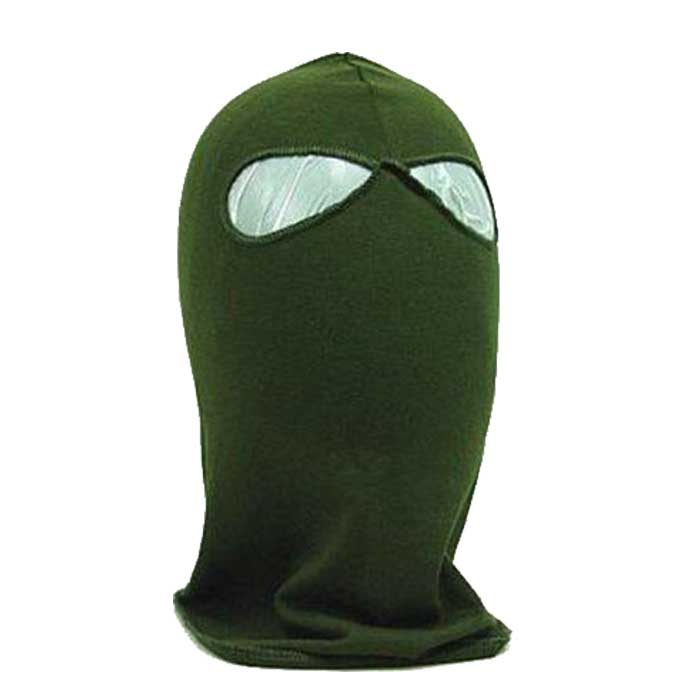 SWAT Balaclava Tactical CS Hood 2 Hole Head Face Mask Protector OD