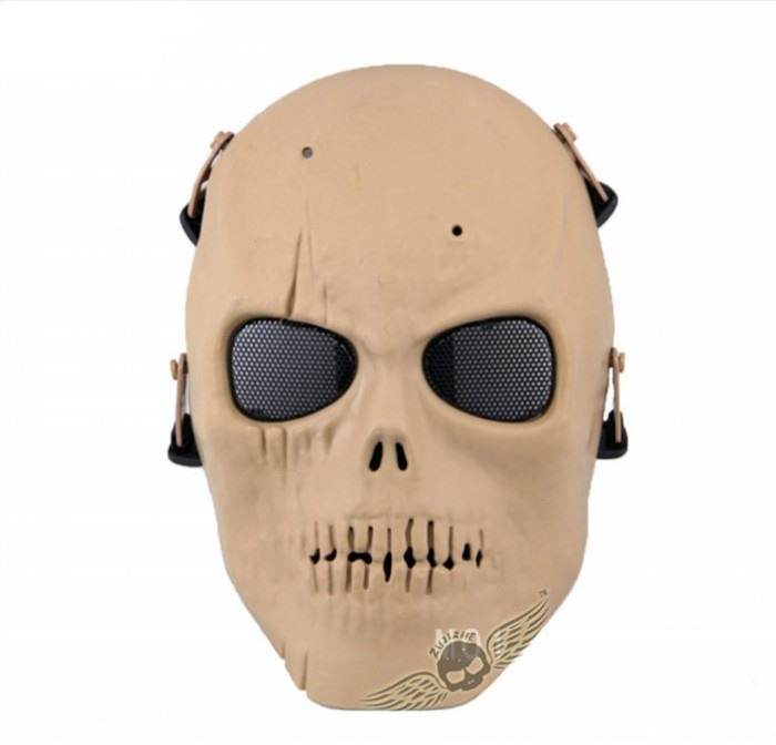 Skull Army Of Two Tactical Airsoft Full Face Mask Movie Party TAN