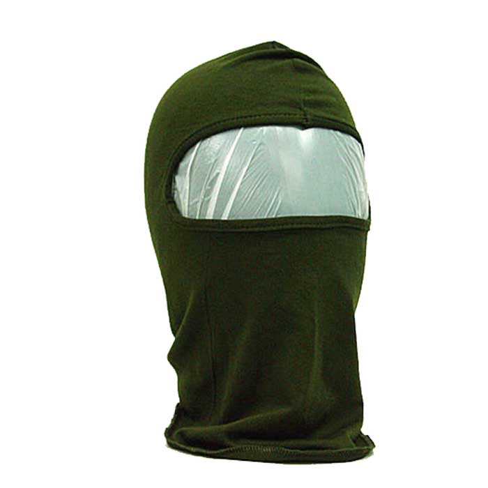 Full Face Head Mask 1 Hole Airsoft Combat Hood Protector Mask OD