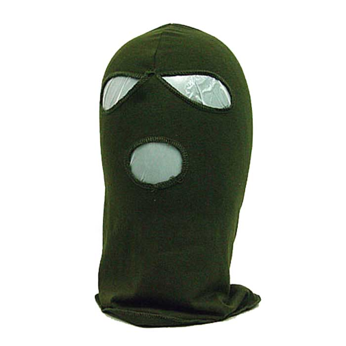 Full Face Head Mask 3 Hole Airsoft Tactical Hood Protector Mask OD