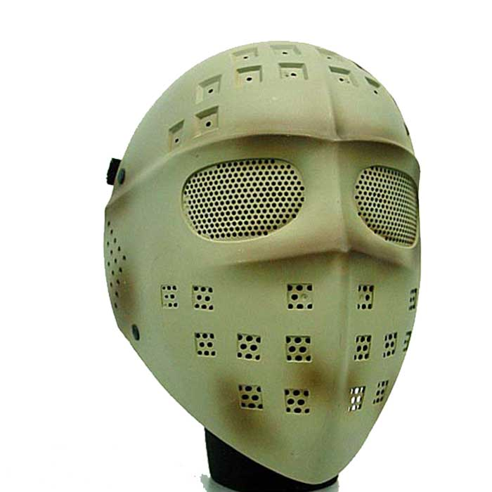 Full Face Airsoft Mesh Mask Tactical Goggle Gear Protect Hockey DE