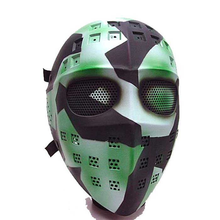 Full Face Airsoft Mesh Goggle Tactical Combat Mask Hockey Type CAMO