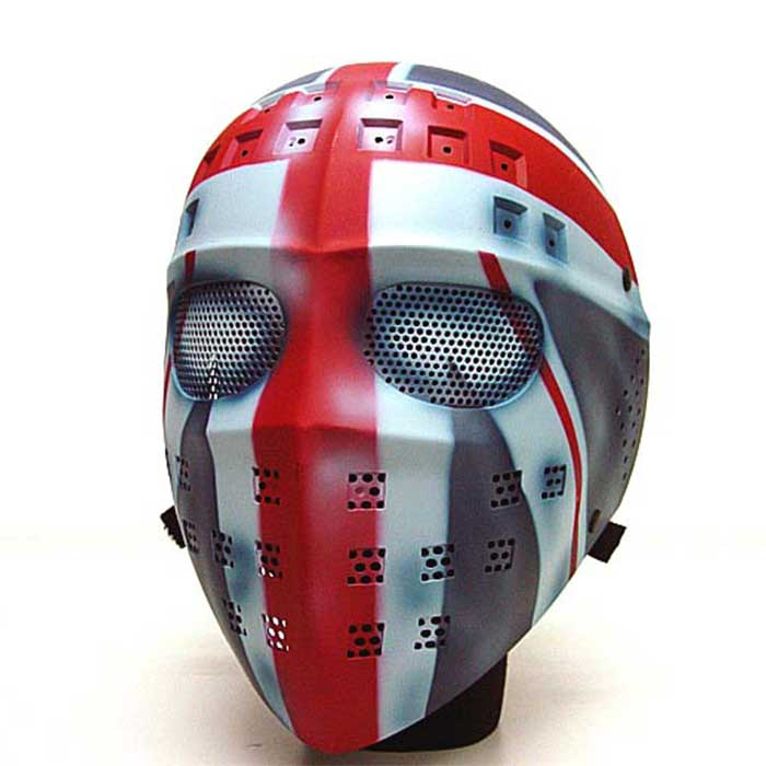 Full Face Airsoft Mesh Mask Tactical Goggle Sport Protect Hockey RED