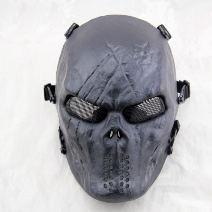 Typhon Skull Full Face Airsoft Mask Mix Halloween Tactical Masks BK