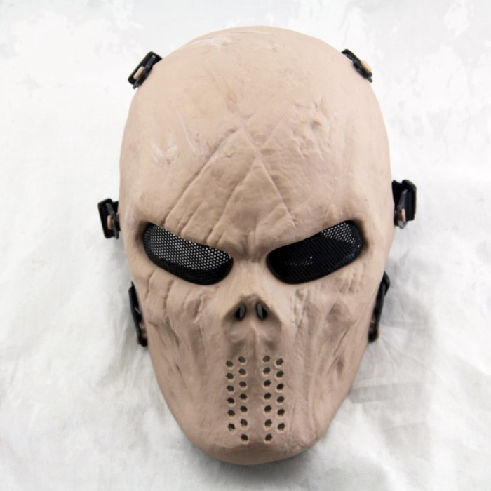 Typhon Skull Full Face Airsoft Mask Motorcycle Ski Tactical Masks DE
