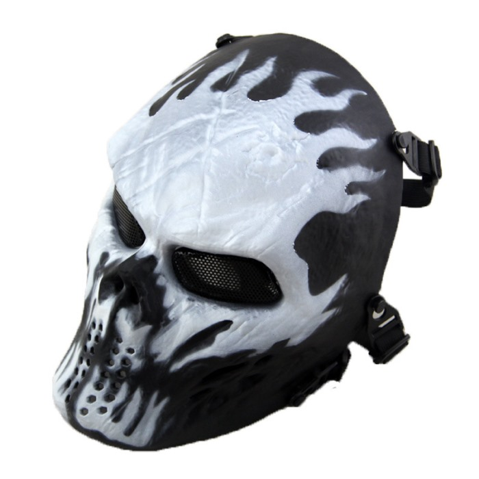 Typhon Camouflage Airsoft Skull Full Face Protect Mask Color Wisp