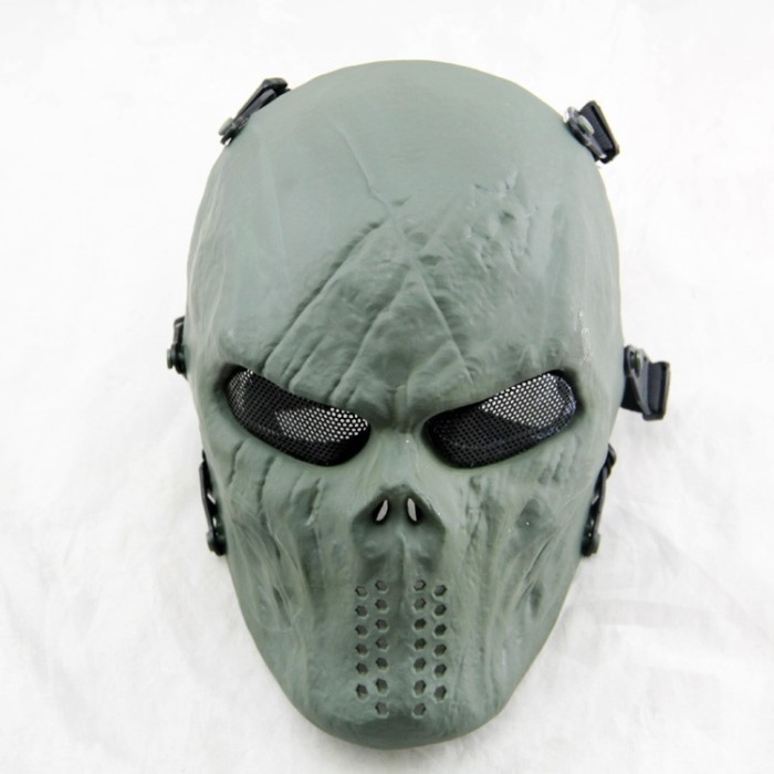 Typhon Skull Full Face Airsoft Mask Mix Halloween Tactical Masks OD