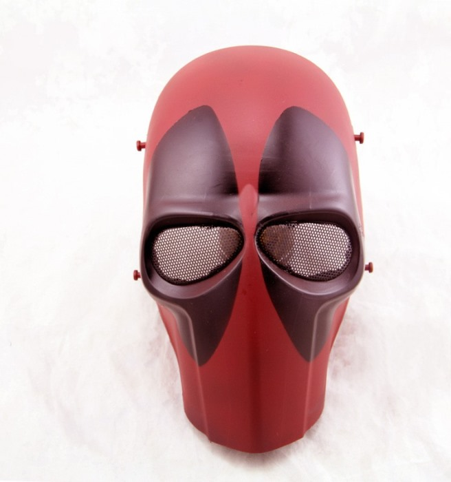 DC Tactical Gear Full Face Protection Cacique Mask Smiley Mask RED