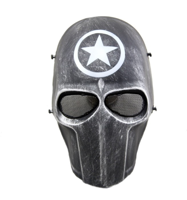 DC Tactical Gear Protection Mask Cacique Full Face Smiley Mask YH