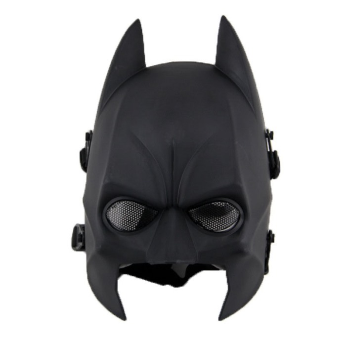 Tactical Mask Halloween Batman Dark Knight Rises Solid Latex Mask BK