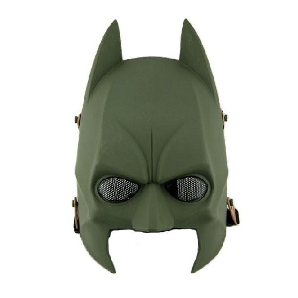 Tactical Mask Airsoft Paintball Wire Mesh Full Face Batman Mask OD