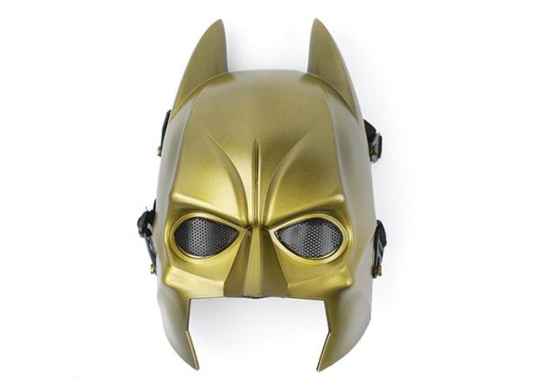 Tactical Mask Airsoft Paintball Wire Mesh Full Face Batman Mask GOLD