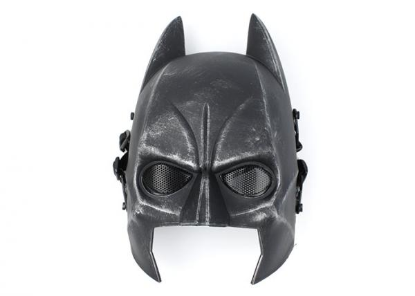 Tactical Mask Airsoft Wire Mesh Full Face Batman Mask Sliver Black