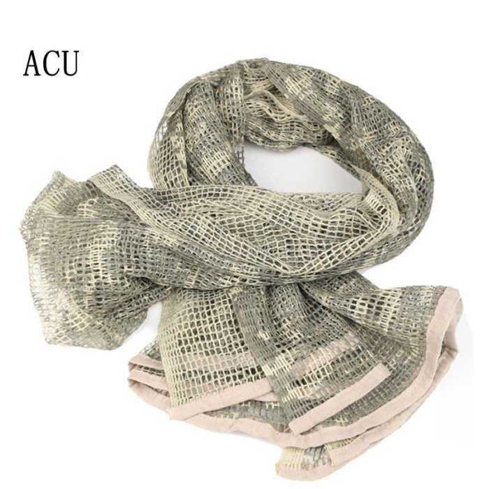 Multi Tactical Camouflage Scarf Army Veil Sniper Neckerchief ACU