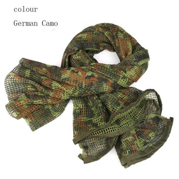 Multi Tactical Scarf Camouflage Sniper Cover Sport Scarves Germans