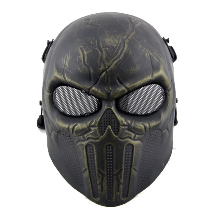 Punisher Eye Mesh Tactical Full Face Mask Airsoft Mask Bronze