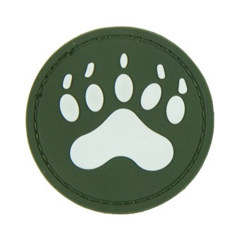 Military Velcro Patches Animal circular claw green