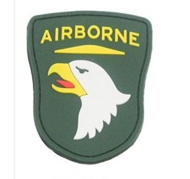 Green Airborne PVC Velcro Patch