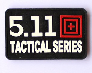 Airsoft patch 511 Tactical Searies PVC Black