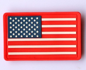 American Flag PVC Velcro USA Patch