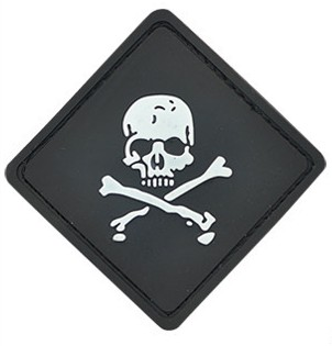 Tactical Gear Skull Flag PVC Velcro Patch Black