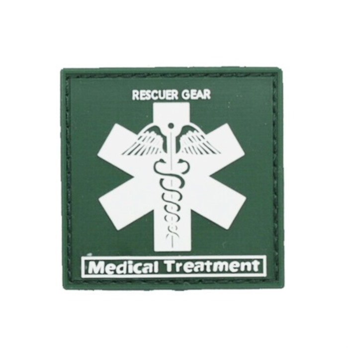 Rescuer Gear Medical Medic Cross Star Emt Tactical PVC Velcro Patch