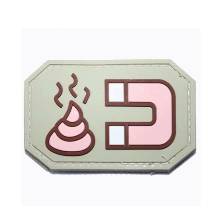 Shit Magnet Embroidered Iron Velcro Patch 3D PVC Rubber Morale Badge