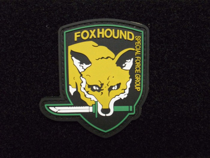 Fox Hound Special Force Group Tactical Pvc Rubber Velcro Patch