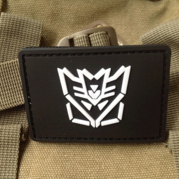 Evil Forces Decepticon Transformers PVC Velcro Patch Morale Badge