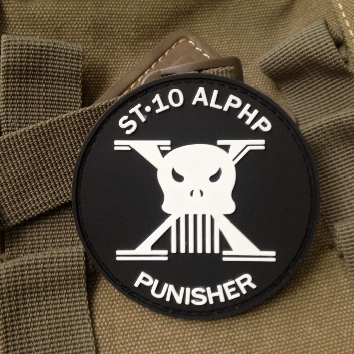 Punisher St 10 Alphp Trident Morale 3D PVC Rubber Velcro Patch