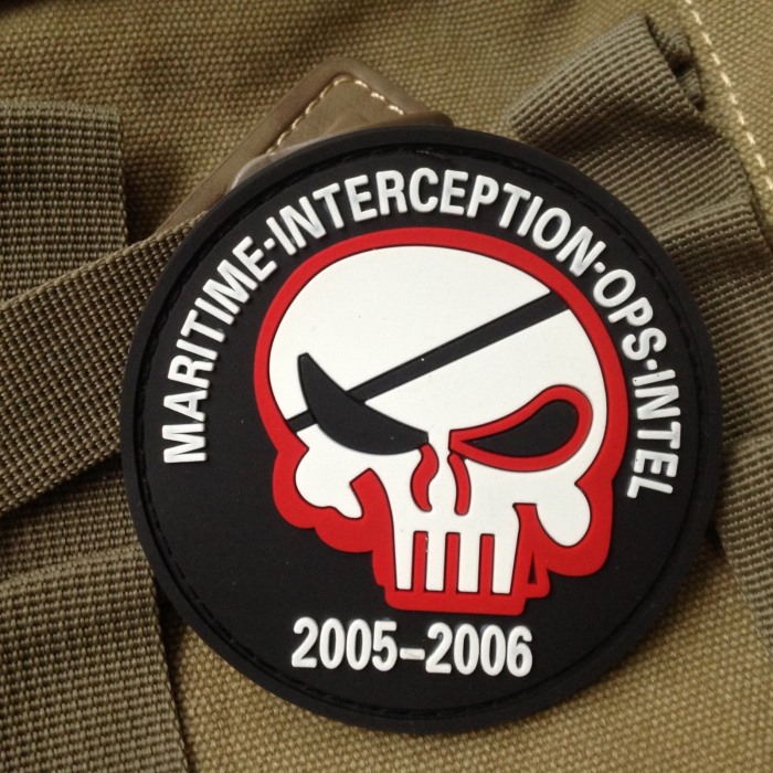 Maritime Interception Ops Intel Punisher Airsoft Velcro Patch