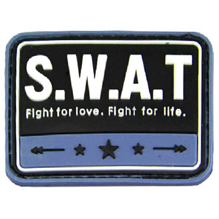 SWAT Fight For Love & Life 3D PVC Velcro Patch AirsoftMorale Badge