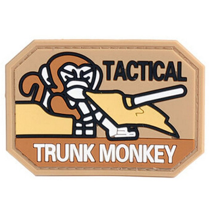 Tactical Trunk Monkey 3D PVC Velcro Patch Airsoft Morale Badge