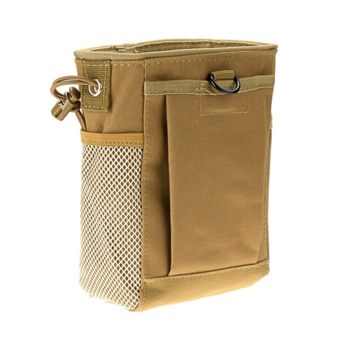 Airsoft Molle Tactical Magazine Pouch Bag Dump Belt Tool Utility DE