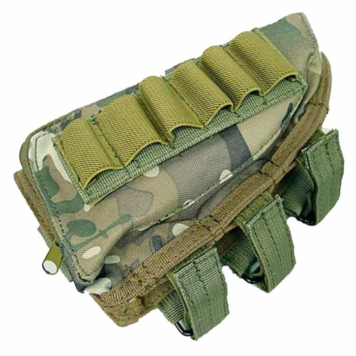 Airsoft Tactical Molle Kit Ammo Pouch Holsters Bag Rifle Stock CP
