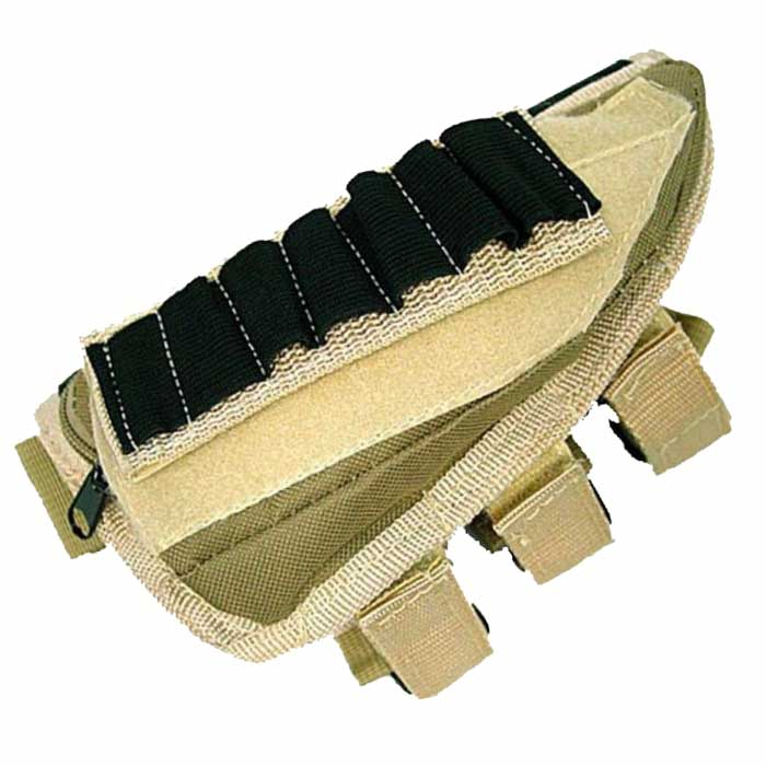 Airsoft Tactical Molle Shotgun Rifle Stock Ammo Pouch Holsters Bag D