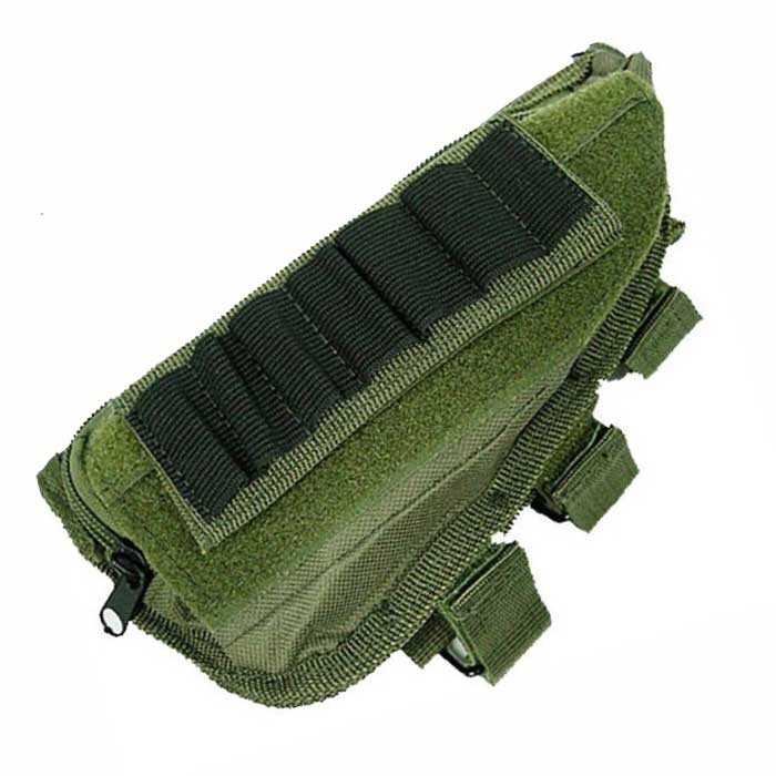 Airsoft Tactical Molle Kit Rifle Stock Ammo Pouch Holsters Bag OD