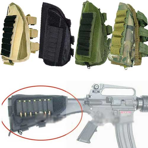 Shotgun Rifle Ammo Pouch Pad Multicam Tactical Molle Pendant Bag
