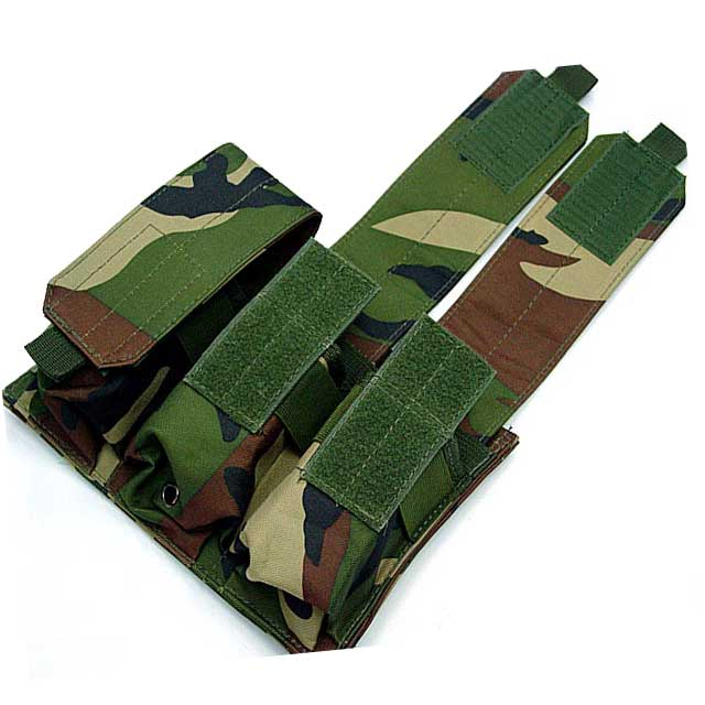 Molle Tactical Bag Triple M4 Mag Pouch Hold 6 Stacker M4 Magazine CL