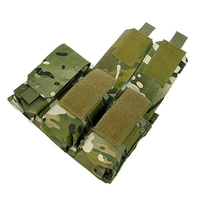 Molle Tactical Triple M4 Mag Magazine Pouch Paintball Airsoft CP
