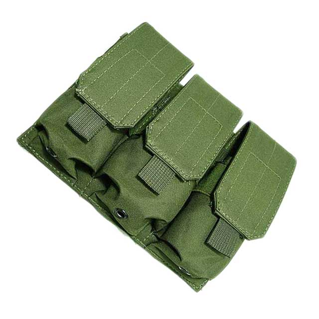 Molle Triple M4 Mag Pouch 3 AVS Panel Triple M4 Mag Magazine OD