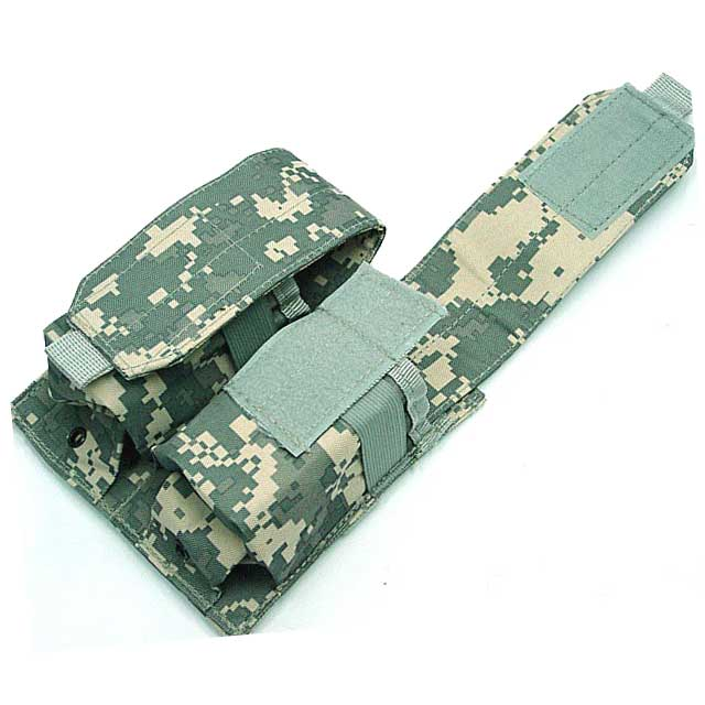 Double Pistol Mag Pouch Pistol Mag Magazine 2 Pocket Molle Pouch ACU