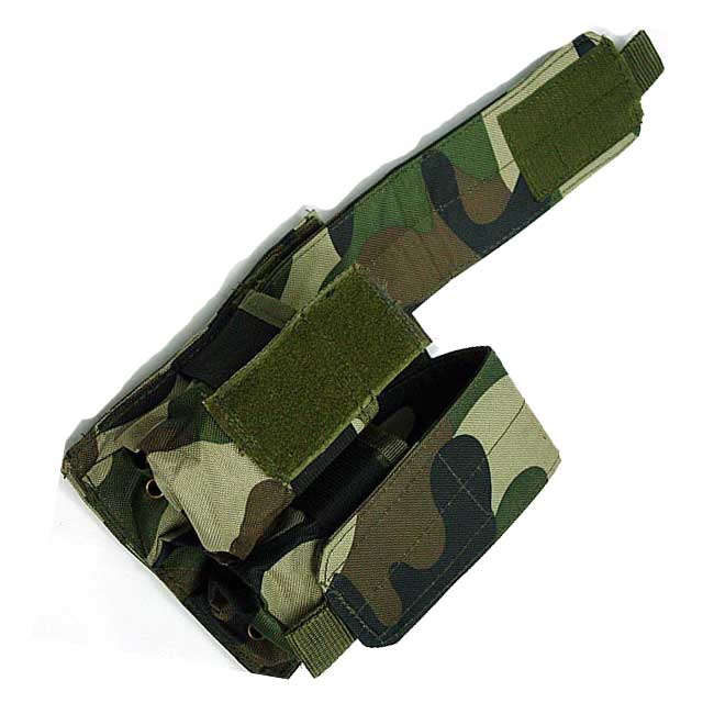 Double Pistol Mag Pouch MOLLE MSA PARA M4 Dou Pouch Mag Magazine AOR