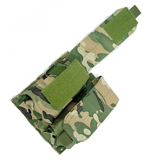 Double Pistol Mag Pouch M4 Multicam Molle Bag Fast MOLLE Holster CP