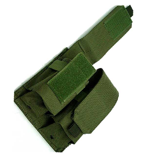 Double Pistol Mag Pouch Tactical Molle Modular Triple Pistol Mag OD